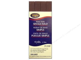 Wrights Single Fold Bias Tape Seal Brown 4 yd.