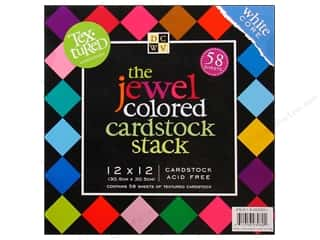 DieCuts Cardstock Stack 12x12 Textured Jewels