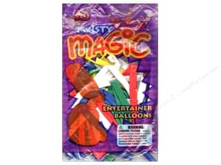 Party Supplies: Pioneer National Latex Balloons Twisty Magic Assorted 20pc