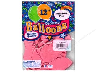 PNL Balloons Blue Bird Deco 12&quot; Pearl Pink 12pc