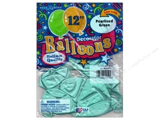 PNL Balloons Blue Bird Deco 12&quot; Pearl Green 12pc