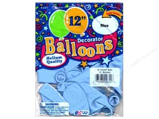 "PNL Balloons Blue Bird Deco 12"" Blue 15pc"