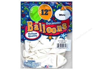 "PNL Balloons Blue Bird Deco 12"" White 15pc"