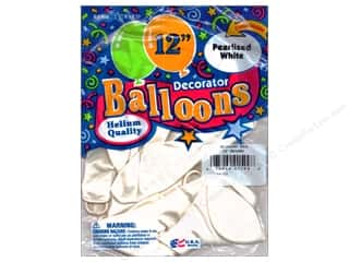 "PNL Balloons Blue Bird Deco 12"" Pearl White 12pc"