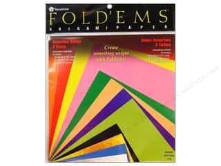 Y&amp;C Fold Ems Origami Paper Astd Size Solid Md 55pc