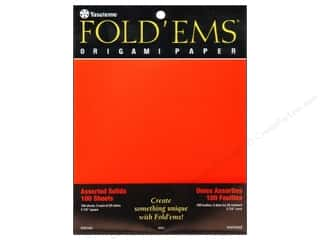 Y&amp;C Fold Ems Origami Paper 5.88&quot; Solid Astd 100pc