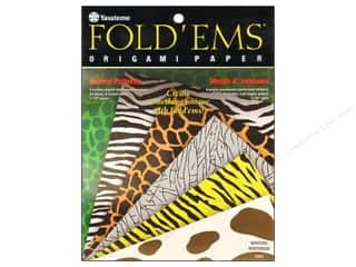 "Yasutomo Fold Ems Origami Paper 5.88"" Animal 24pc"