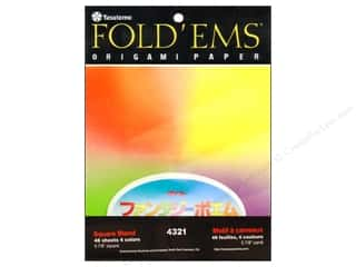 Y&amp;C Fold Ems Origami Paper 5.88&quot; Blend 4Color 48pc