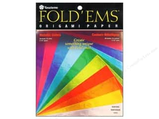 "Papers $5 - $10: Yasutomo Fold Ems Origami Paper 5.88"" Metallic 36pc"