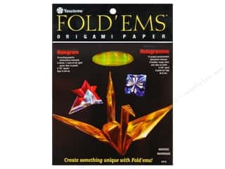 Y&amp;C Fold Ems Origami Paper 5.88&quot; Hologram 5pc