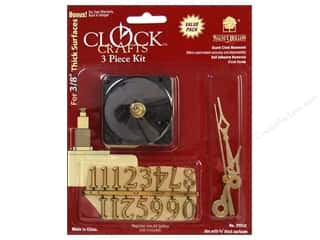 Clock Making Supplies Scrapbooking: Walnut Hollow Clock Kit 3/8 in. 3 pc