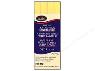 Wrights Extra Wide Double Fold Bias Tape Lemon Ice 3 yd.