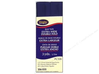 Wrights Extra Wide Double Fold Bias Tape Navy 3 yd.