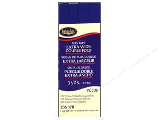 Wrights Extra Wide Double Fold Bias Tape Yale 3 yd.