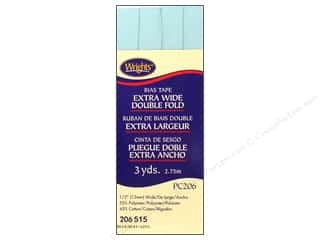 Tapes Blue: Wrights Extra Wide Double Fold Bias Tape 3 yd. Blue