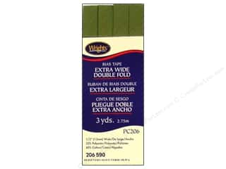 Wrights Extra Wide Double Fold Bias Tape Olive 3 yd.