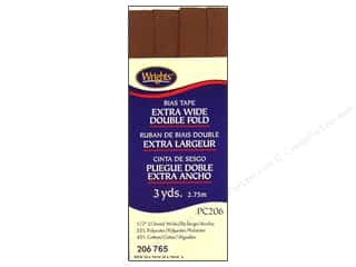 Wrights Wrights Extra Wide Double Fold Bias Tape 3 yd: Wrights Extra Wide Double Fold Bias Tape 3 yd. Mocha
