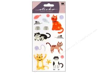 Flowers EK Sticko Stickers: EK Sticko Stickers Cat