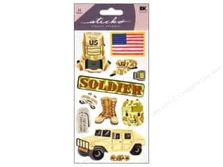 "Stickers 11"": EK Sticko Stickers US Soldier"