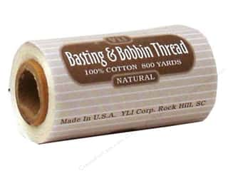 YLI Basting & Bobbin Thread 800yd Natural