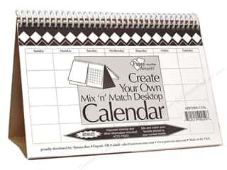 Calendars Calendars: Paper Accents Desktop Calendar 5 1/2 x 8 1/2 in. Mix n Match