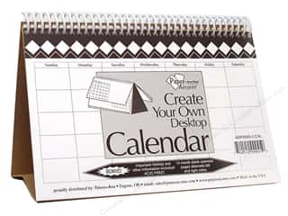 Paper Accents Calendar 5.5&quot;x 8.5&quot; Desktop 14Mo Wht