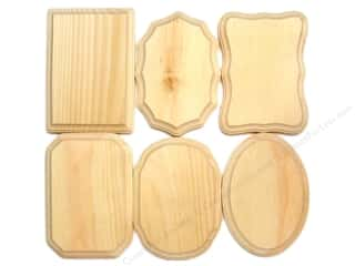 Demis Wood Plaques Bulk Assortment 5&quot;x 7&quot; 36 pc (36 pieces)