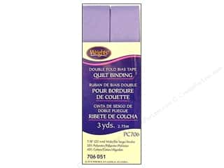 Sewing & Quilting Length: Wrights Double Fold Quilt Binding 3 yd. Lavender