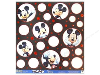 Clearance Blumenthal Favorite Findings: EK Paper 12x12 Disney Mickey Poses (25 sheets)