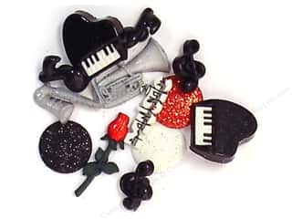 Music & Instruments paper dimensions: Jesse James Dress It Up Embellishments Music