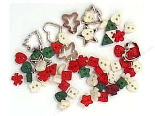 Jesse James Buttons inches: Jesse James Dress It Up Embellishments A Keepsake Christmas