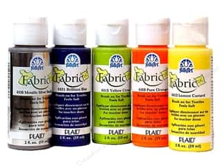 Home Decor Sale: Plaid FolkArt Fabric Paint 2 oz, SALE $1.79-$2.49.