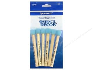 "Plaid Spouncer Stencil Decor 1/4"" Mini 6pc"