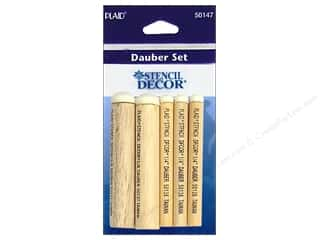 Foam Daubers: Plaid Stencil Decor Dauber Set 5/8 in. & 1/4 in. 5 pc.