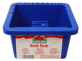 Plaid Brush Basin Apple Barrel