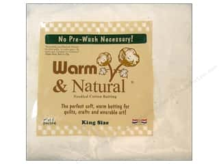Warm & Natural batting: Warm and Natural Cotton Batting King 120 x 124 in.
