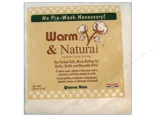 Cotton batting: Warm and Natural Cotton Batting Queen 90 x 108 in.