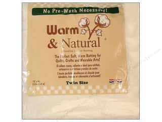 Batting Eco Friendly /Green Products: The Warm Company Warm and Natural Cotton Batting Twin 70 x 90 in.