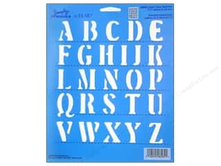 "Plaid Simply Stencil 8""x 10"" Upper Case Letters"