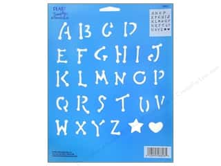 Plaid Simply Stencil 8&quot;x10&quot; Upper Case Alphabet