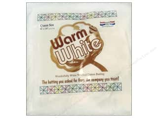Warm & Natural batting: Warm and White Cotton Batting Queen 90 x 108 in.