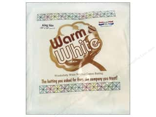 "Warm & White Cotton Batting King 120""x 124"""
