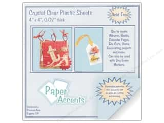 Scrapbooking Sheets: Plastic Sheet 4 x 4 in. by Paper Accents Clear .02 in. (25 sheets)