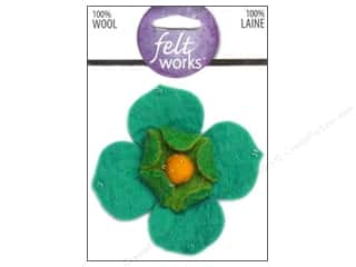 Flowers / Blossoms Felting: Dimensions Feltworks 100% Wool Felt Embellishment Dogwood Flower