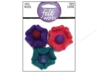 Dimensions Feltworks 100% Wool Felt Cup Flowers