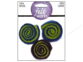 Dimensions Feltworks 100% Wool Felt Cool Swirls