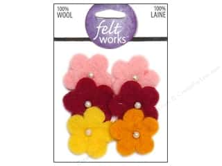 Dimensions: Dimensions Feltworks 100% Wool Felt Flower/Pearls