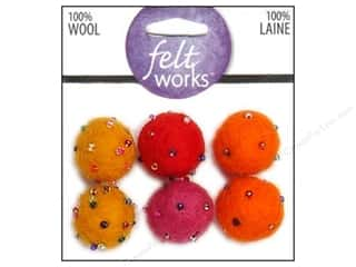 Dimensions Feltworks 100% Wool Felt Ball Warm Bead