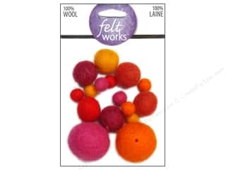Beads Felting: Dimensions Feltworks 100% Wool Felt Embellishment Balls Warm Assortment