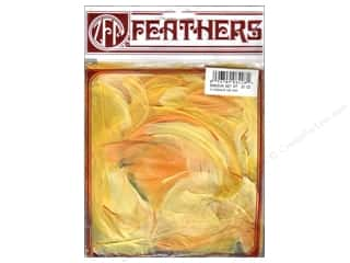 Feathers Crafts with Kids: Zucker Feather Goose Coquille Tonal Sun Yellow .25 oz
